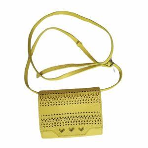 Stella & Dot Yellow Mini Crossbody Sidekick Bag